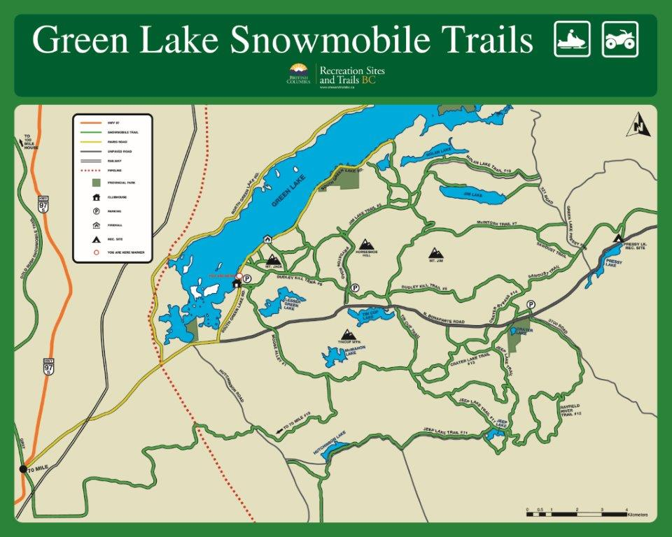Green Lake Snowmobile Trail